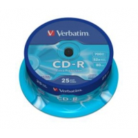 CD-R Verbatim 700MB/80min 52x spindle 25 stk