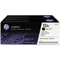 HP Black Laser Toner Twin Pack (Q2612AD)