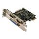 Logilink PCI Express til 2 x Seriel, 1x Parallel