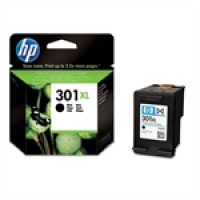 HP Black Inkjet Cartridge No.301XL (CH563EE)